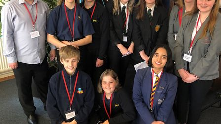 Members of the Norwich Opportunity Area Youth Board gave a presentation to the city's leaders and he