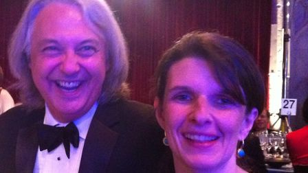 Chris Hamilton-Emery and Jen Hamilton-Emery at the Man Booker Prize awards evening in 2012 for Aliso