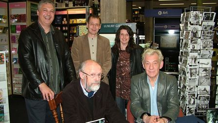 The launch of Tim Cribb's book Bloomsbury and British Theatre at Heffers Bookstore in Cambridge. Pic