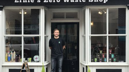 Graham Rutherford, owner Ernie's Zero Waste, a plastic free, container free, ethical food store. Pic