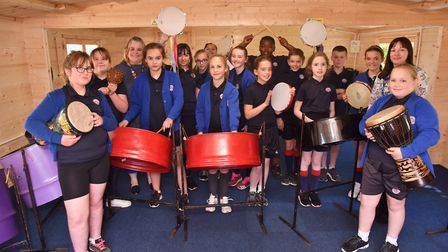 Iceni Academy in Hockwold unveil their new dedicated music room. Picture: Sonya Duncan