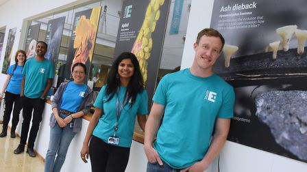 Scientists studying organisms and ecosystems ready to chat at the Earlham Institute's open day at No