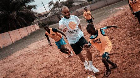 Handout photo provided by Right to Play of Nathan Redmond, Redmond is a global Ambassador for Right
