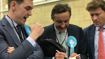 Brexit Party candidates at the count at Chelmsford, Picture: NEIL PERRY
