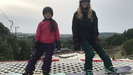 Female snowboarders enjoyed the Wicked Sisters event at the Norfolk Snowsports Club in Trowse. Pictu