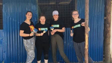 College of West Anglia students travelled to Kenya to undertake voluntary work with the charity, Mam