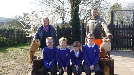 Sally Wilson Town has brought a bench for Kelling C of E Primary School in memory of her late mother