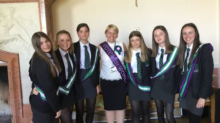 The launch of Langley School's Suffragette Stories Magazine, a collection of creative writing and ar