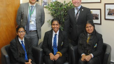 Alina, Sruthi and Anoushkha of Springwood High School won the 2018-2019 Cleantech challenge. The gir