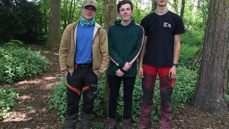 Easton and Otley College students won in their category at a tree climbing competition in the fastes