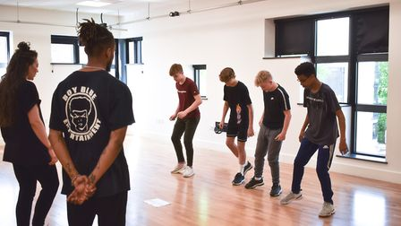 A group of Year 9 boys from Hellesdon High School, part of The Wensum Trust, took part in dance work