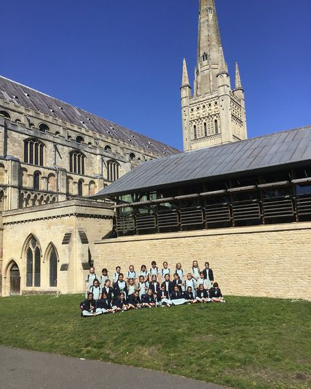 Lower 2 at Norwich High School for Girls learnt about Benedictine monks, how Norwich Cathedral was b