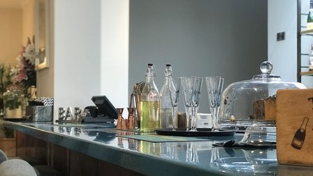 The long bar made from bespoke resin. Picture: Ella Wilkinson