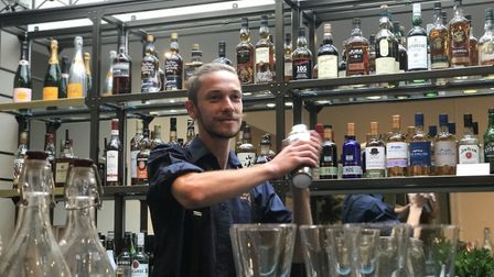 Pete Emery, Bar Supervisor at the newly refurbished The Boudicca - formerly known as 'Caistor Hall H