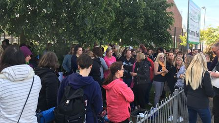 Hundreds of Take That fans camped overnight near Carrow Road to secure priority wrist bands for the