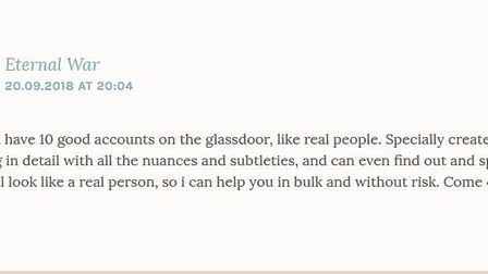 Commentators on the blog claimed they were being paid money to leave bad reviews on Glassdoor about