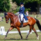 Sweden's Jonna Britse rides Quattrino during the dressage for the CCI-SO4* Section A at Houghton Pic