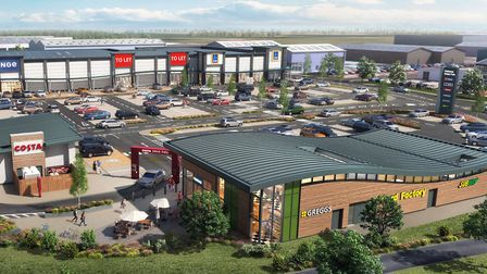 The £7 million new-build Gateway Retail Park in Lowestoft is a substantial investment in the town P