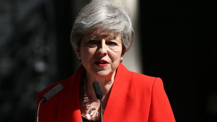 Prime Minister Theresa May gives her resignation speech. Photo: Yui Mok/PA Wire