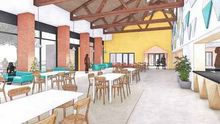Artist's impressions of new community hub at Jubilee Hall. PIC: Supplied by YMCA Norfolk.