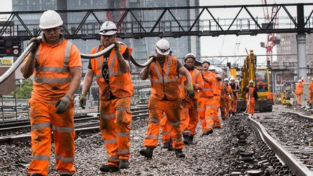 Network Rail has reminded passengers there will be engineering work over the Bank Holiday weekend. P