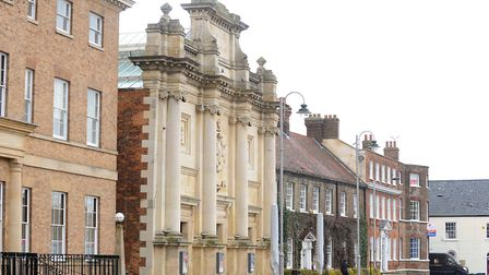 Grade II listed King's Lynn Corn Exchange on the Tuesday Market Place was built in 1854 and was turn