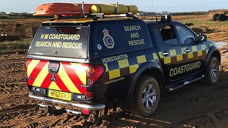 Rescuers including Hunstanton Coastguard Rescue Team were called to reports of a windsurfer in diffi