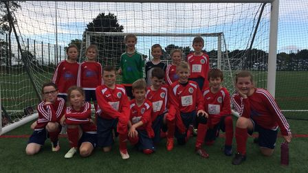 Year 3 and 4 children from Hemsby Primary School took part in the Cluster Mixed Football Tournament