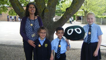 Martham Academy and Nursery's Buddy sponsored workout as part of the NSPCC Speak Out Stay Safe campa