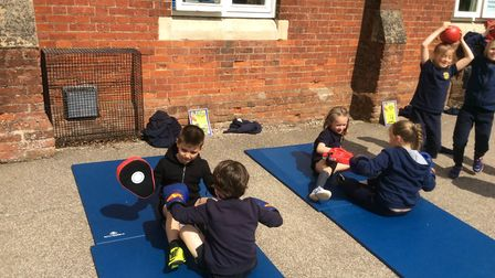 John McCormack visited Spooner Row Primary School to lead a Skip2BFit and a Box2BFit day for all the