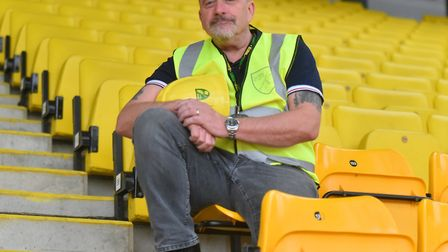 Andy Batley, Stadium Safety Manager, at Carrow Road ahead of Take That's Norwich Show. Picture: Jami