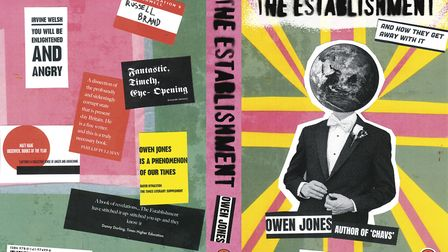 Norwich University of the Arts student Charlotte Vaughan's redesigned book cover for The Establishme