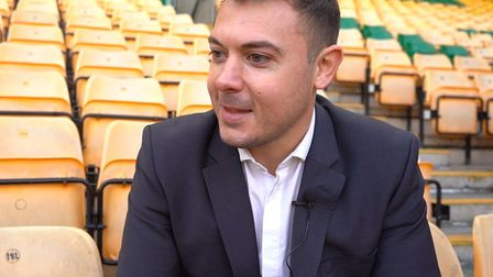 Norwich City's chief operating officer Ben Kensell. Picture: Tony Thrussell
