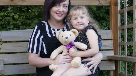 Verity Gamble and her daughter Gracie Picture: QEH