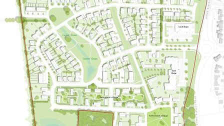 A masterplan for 160 homes, a residential village, care home and retail facility in Swaffham. Pictur