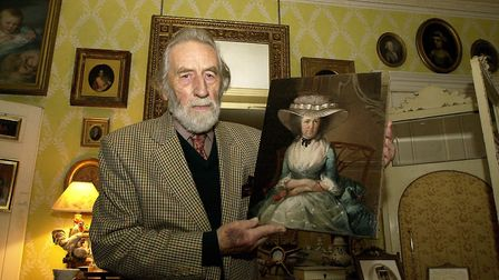 Glad to have her home again at Banningham Rectory, Bryan Hall with the painting of Henrietta Nelson