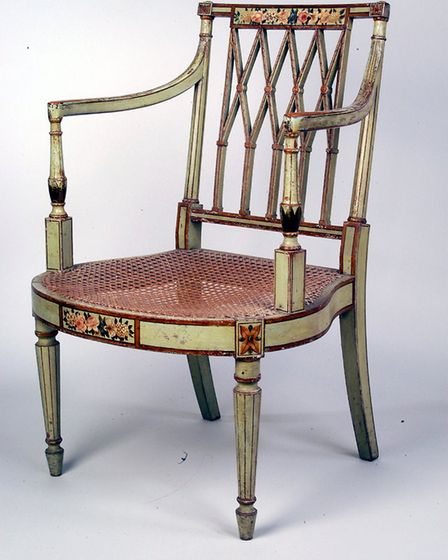Was this chair haunted by a woman with red hair? CREDIT: Bonhams