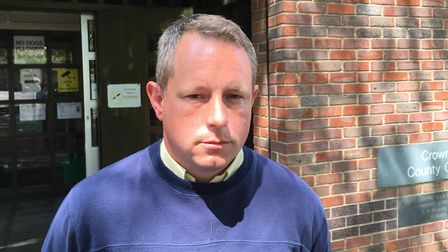 Gareth Emms, of Grove Road in Hethersett, outside Norwich Magistrates Court. Picture: David Hannant