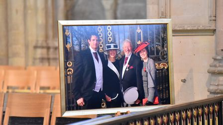 The memorial service for John Wilson MBE, Norwich Cathedral. Picture: Jamie Honeywood