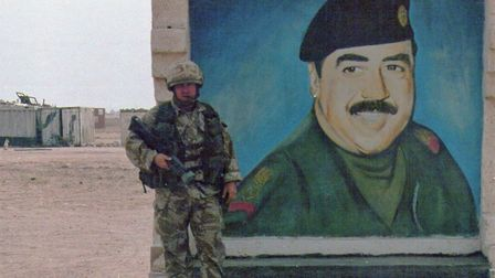 Former Wisbech solider Paul Atkinson during his service in Iraqi with The Queen's Dragoon Guards. Pi