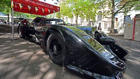A visit from the 89 Batmobile is being offered as a prize for a Norfolk Day competition. Picture: Ja