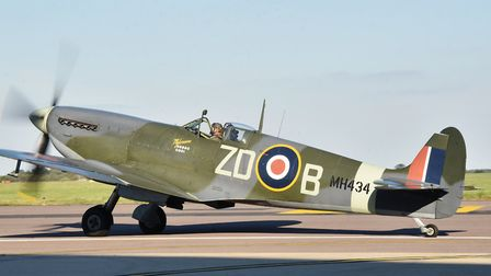 Spitfire at SaxonAir in Norwich. A Spitfire will be involved in a flypast over the city the weekend