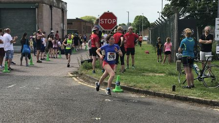 Hundreds of runners took park in the Mike Groves 10K at Scottow Enterprise Park. Picture: Ella Wilki