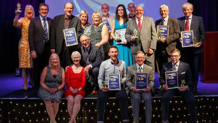 Local heroes recognised at the South Norfolk Community Awards ceremony head in Diss. Picture: South