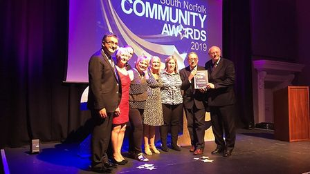 The team from Diss-based Park Radio at the South Norfolk Community Awards. Picture: South Norfolk Co