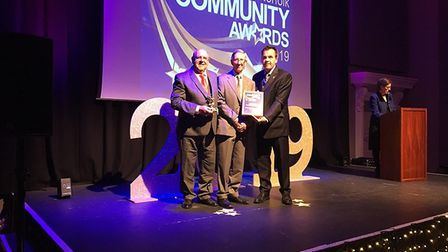 Community Fundraiser of the Year went toHethersett Pantomime Group at the South Norfolk Community Aw