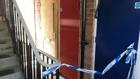 The flat at Dolphin Grove where a man was seriously assaulted. Photo: Luke Powell