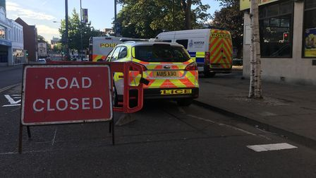 Police have launched a murder inquiry after a man in his 40s was stabbed at Rose Lane car park. Pict