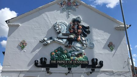 The mural of the Prince of Denmark on Sprowston Road. Picture: Archant