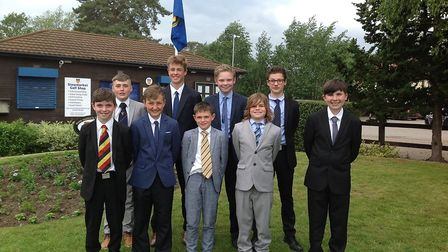 Norfolk's Under-14 boys team face the camera. Pictured from left to right are Quinlan Monaghan, Dani